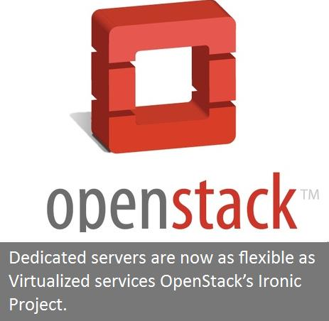 Dedicated servers are now as flexible as Virtualized services OpenStack's Ironic Project